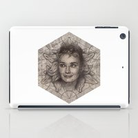 Audrey Hepburn dot work portrait iPad Case