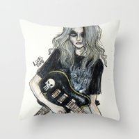 This Is A Rock Band Throw Pillow