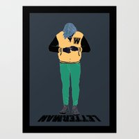 Art Print featuring Letterman by Mexican Zebra