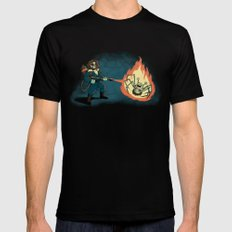 KILL IT WITH FIRE Mens Fitted Tee Black SMALL
