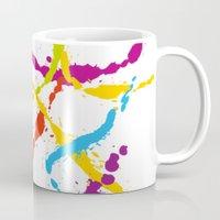 Splattered Rainbow [WHIT… Mug