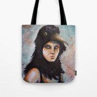 Raven girl Tote Bag