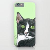 Black and White Cat  iPhone 6 Slim Case