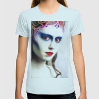 Queen of hearts  Womens Fitted Tee Light Blue SMALL
