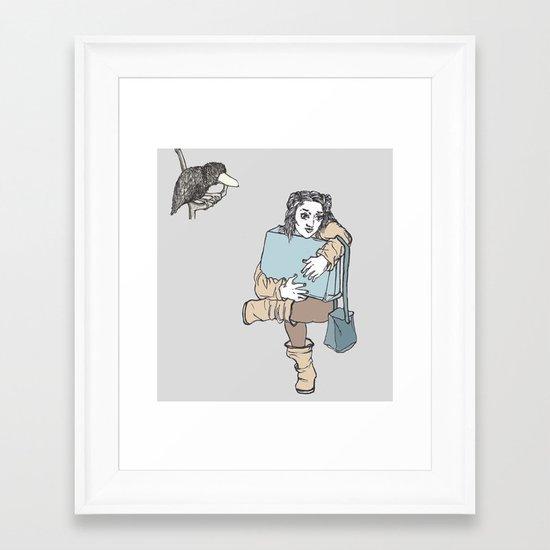 The passengers Framed Art Print