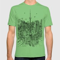 Toronto! (version #2) Mens Fitted Tee Grass SMALL