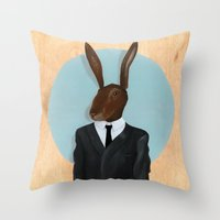David Lynch | Rabbit Throw Pillow
