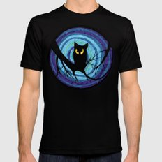 time for child stories: the EVIL OWL Mens Fitted Tee Black SMALL