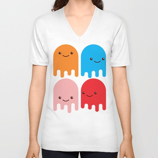 Friendly Ghosts V-neck T-shirt