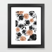 Pixel Rose Framed Art Print
