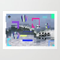 Geometric Wavez Art Print