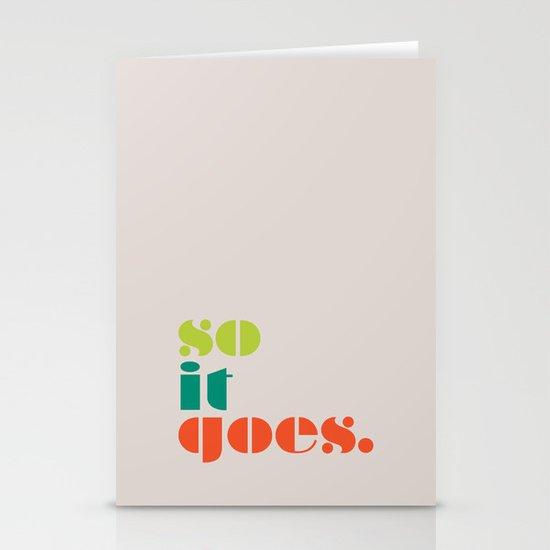 So It Goes Stationery Card