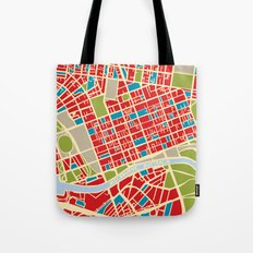Vintage Style Map of Melbourne Tote Bag