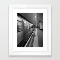 Tube Runner Framed Art Print