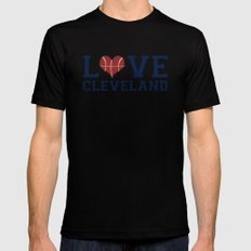 Love Cavs Mens Fitted Tee Black SMALL