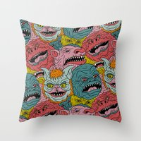 GhoulieBall Throw Pillow