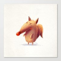 Monday Fox Canvas Print