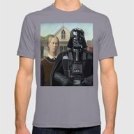 Darth Vader In American … Mens Fitted Tee Slate SMALL