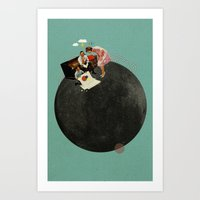 Life On Earth   Collage Art Print
