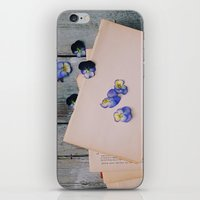 She Filled the Pages of Her Life With Happiness and Flowers iPhone & iPod Skin