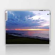 Sunset at Sea and the Rain Storm Laptop & iPad Skin
