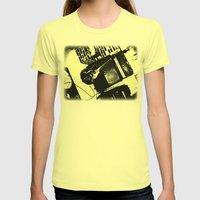 Shockin' White Light Gui… Womens Fitted Tee Lemon SMALL