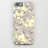 iPhone Cases featuring just goats purple cream by Sharon Turner
