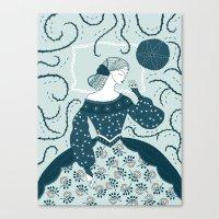 Little Briar Rose Canvas Print