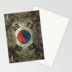 National flag of South Korea, officially the Republic of Korea - Retro style Stationery Cards