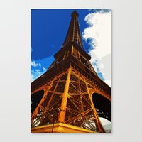 Canvas Print featuring Eiffel Tower by Bjørn Svendsen
