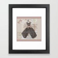 Blush Fancy Dress Framed Art Print