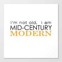 Middle Age Is The New Bl… Canvas Print