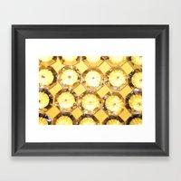 Diamonds // Yellow Framed Art Print