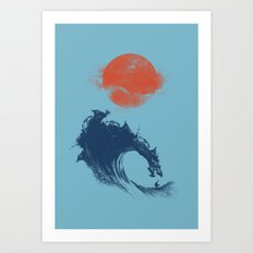 MONSTER WAVE Art Print