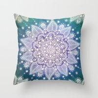 Peacock Mandala Throw Pillow