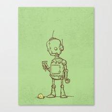 A Robot's Ice Cream Canvas Print
