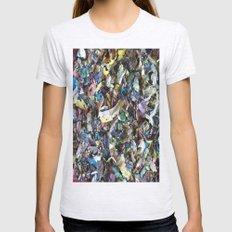 DRIED PAINT MASTERPIECES 2 Womens Fitted Tee Ash Grey SMALL