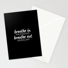 Breathe In The Good Sh*t Funny Quote Stationery Cards
