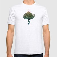 My Favorite Flower Mens Fitted Tee Ash Grey SMALL