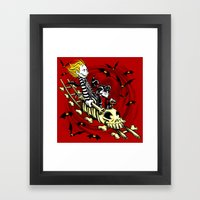 Calvydia and Beetlehobbes Framed Art Print