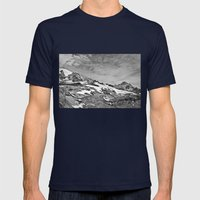 Rugged Mountain Hike Mens Fitted Tee Navy SMALL