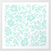 Stamp Floral Pattern Art Print