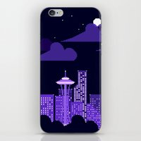 rainy city iPhone & iPod Skin