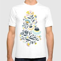Geo Garden Mens Fitted Tee White SMALL