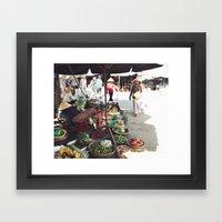 Fruit Market, Hoi An.  Framed Art Print