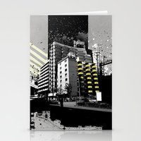 CMYK Triptych - Yellow Stationery Cards