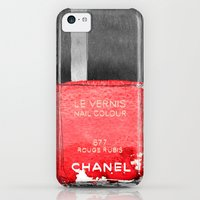 iPhone 5c Cases featuring Red Love by Sara Eshak