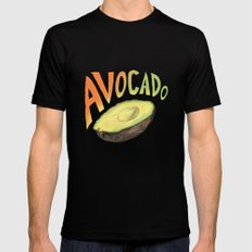 Avocado Mens Fitted Tee Black SMALL