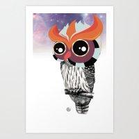Owlin' it Art Print