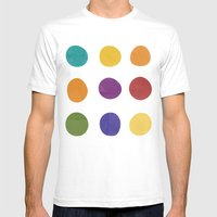 Color Dots Mens Fitted Tee White SMALL
